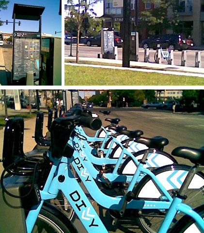 Divvy bike sharing at IIT Main Campus - 35th and State St.