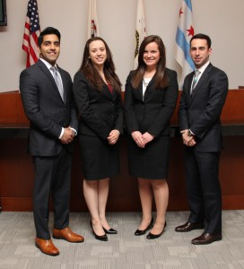 Pictured from left: Fariz Burhanuddin '14, Laurel Martinez '15, Molly Condon '15 and Rob Kohen '14