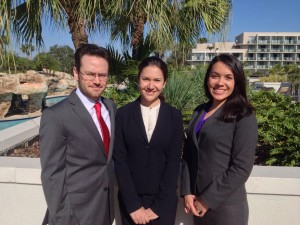 Pictured from left: Emiliano Baidenbaum '14, Paulina López Caballero '14 and Esther Mignanelli '14.