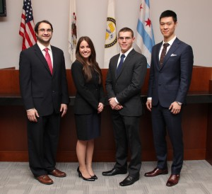 Pictured from left: Matthew McCarter, Alison Schaffer, Joshua Rehak and Michael Zhang.