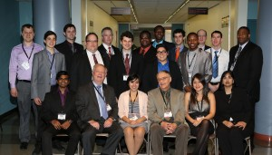 IIT Cyber Security and Forensics students and professors pictured with SAT Dean C. Robert Carlson.