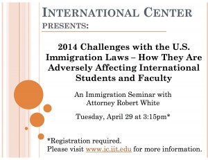 Immigration Seminar with Bob White