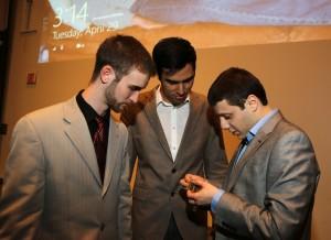 Pictured left to right: James Leahy, Guilherme Almeida do Nascimento, Kareem Al-Zoobiy