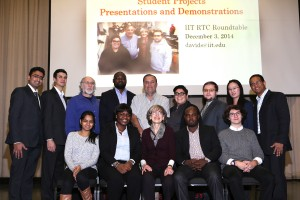 ITM Professor Carol Davids (middle front row) is pictured with IIT Real-Time Communications students.