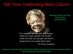 Talk Time: Celebrating Black Culture!