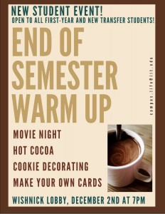 End of Semester Event 2015