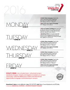 CW schedule