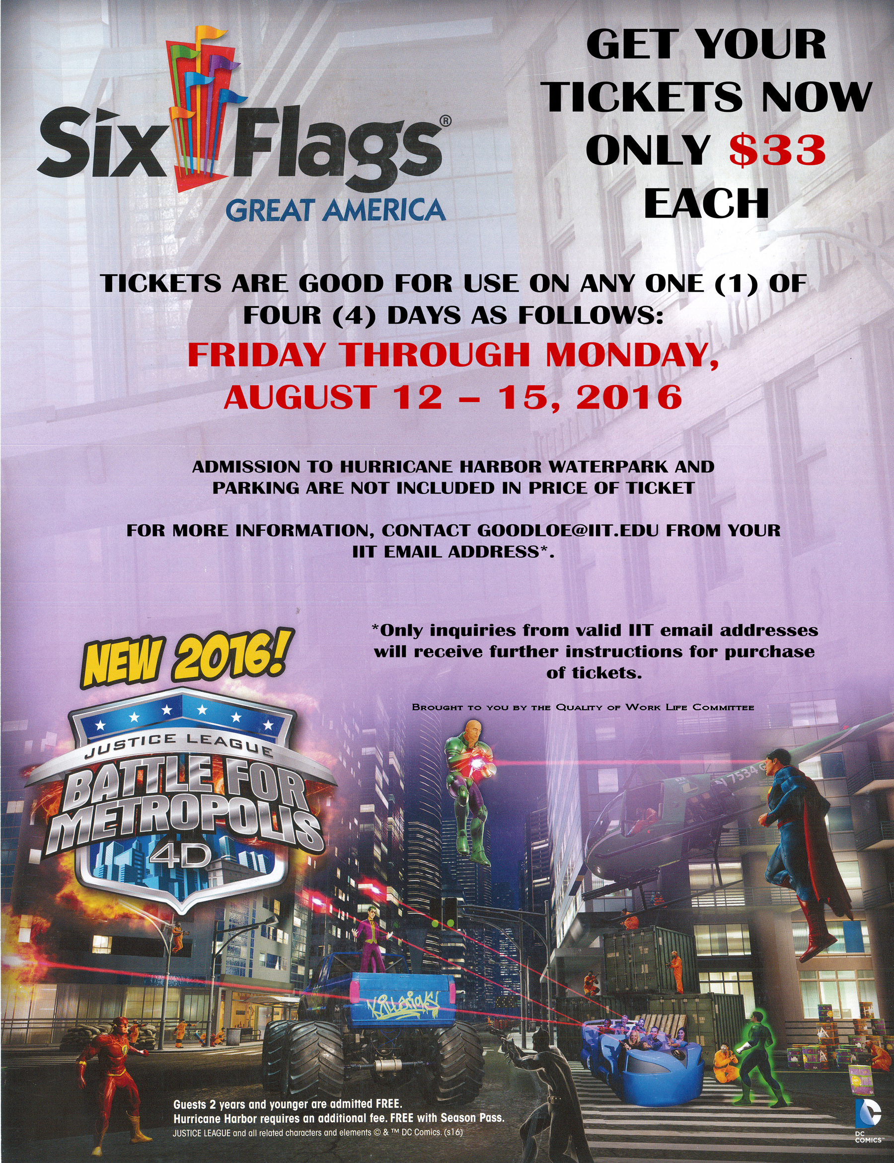 August 12 Last Day To Buy Six Flags Great America Tickets