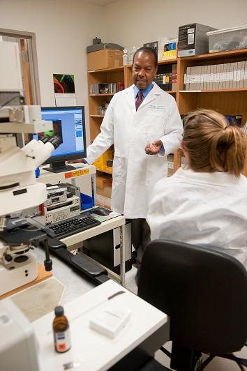 George Langford in his microscopy laboratory.jpg