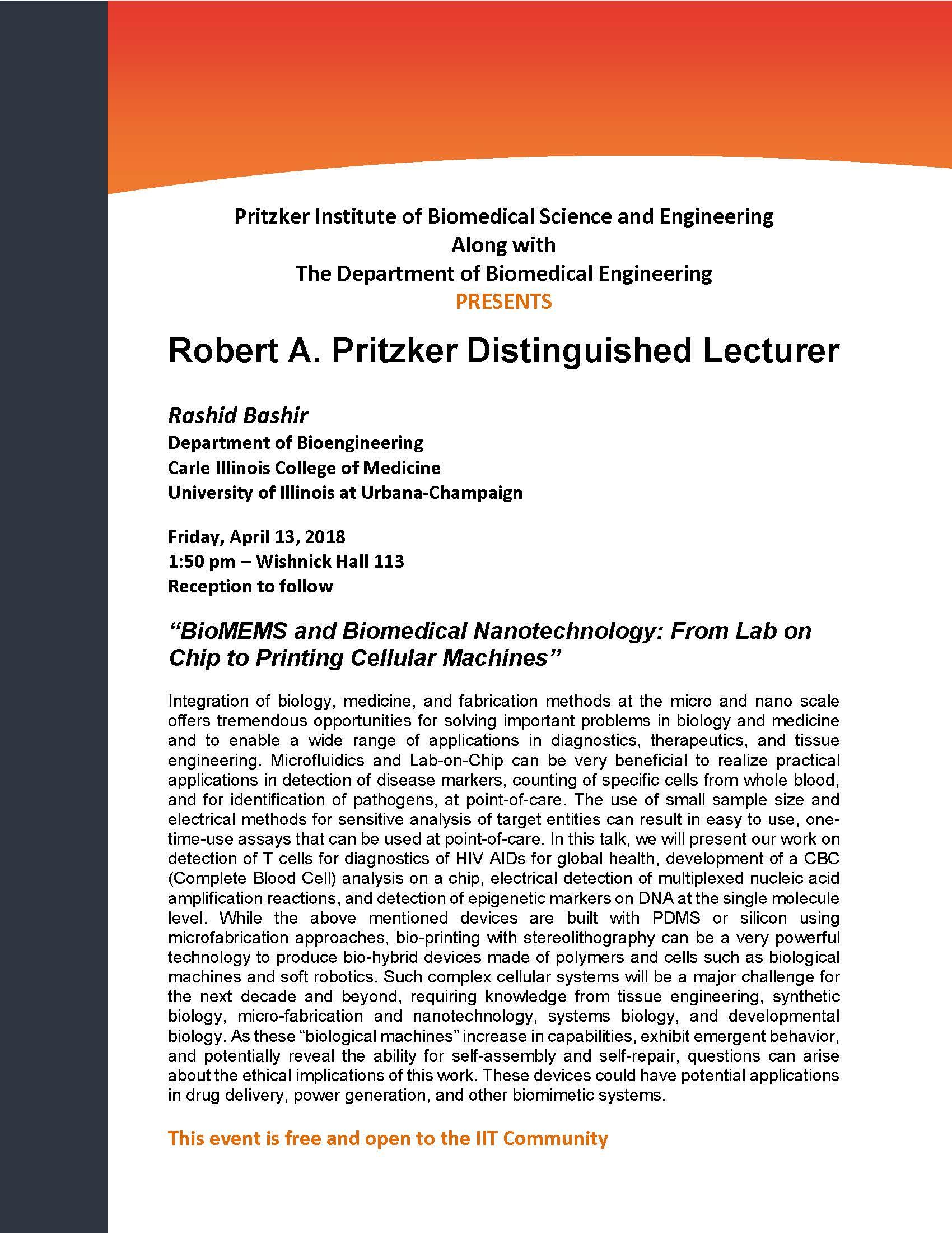 Announcement Pritzker Lecturer 2018 Rashid Bashir.jpg