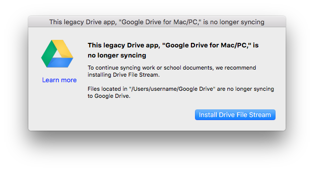 Google Drive for Mac PC is No Longer Syncing.png