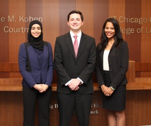 Pictured from left to right: Amany Awad, Ryan Hanneken and Elangie Lozada