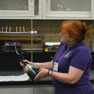Master teacher Caryn Jackson demonstrates during the ASM Materials Camp.