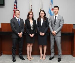 Pictured from left: Joshua Rehak, Nicolette Ward, Ana Montelongo and Michael Zhang.