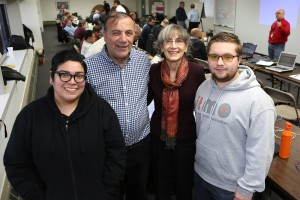 (left to right) Christina (Cruz) Tovar, Joe Cusimano, Carol Davids, Bart Dworak