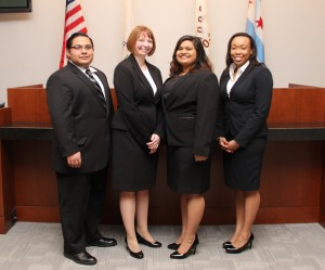 From left: Gus Hernandez, Haley Jenkins, Mohini Lal and Natalie Adeeyo