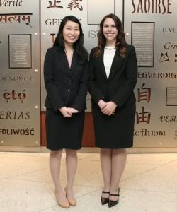 Jing Zhang (left) and Nicole Wilmet